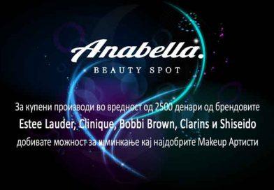 Anabella Beauty Spot ви подарува шминкање кај најдобрите Makeup Артисти