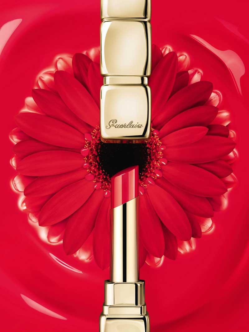 Guerlain KissKiss Shine Bloom rose flower